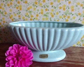 Vintage Haeger Turquoise Pottery Planter