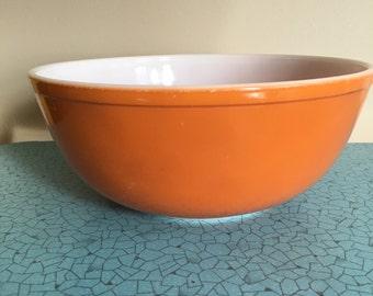 Orange Daisy Pyrex Mixing Bowl 404