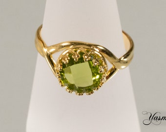 Maharani dream-Peridot faceted