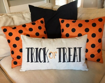 Trick or treat - Halloween pillow cover