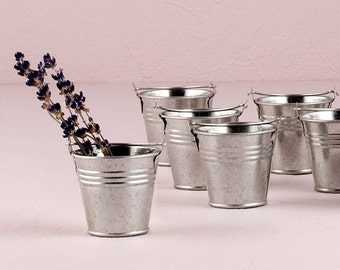 Miniature Favor Pails (Pack of 12) Wedding Favors Containers Country Wedding