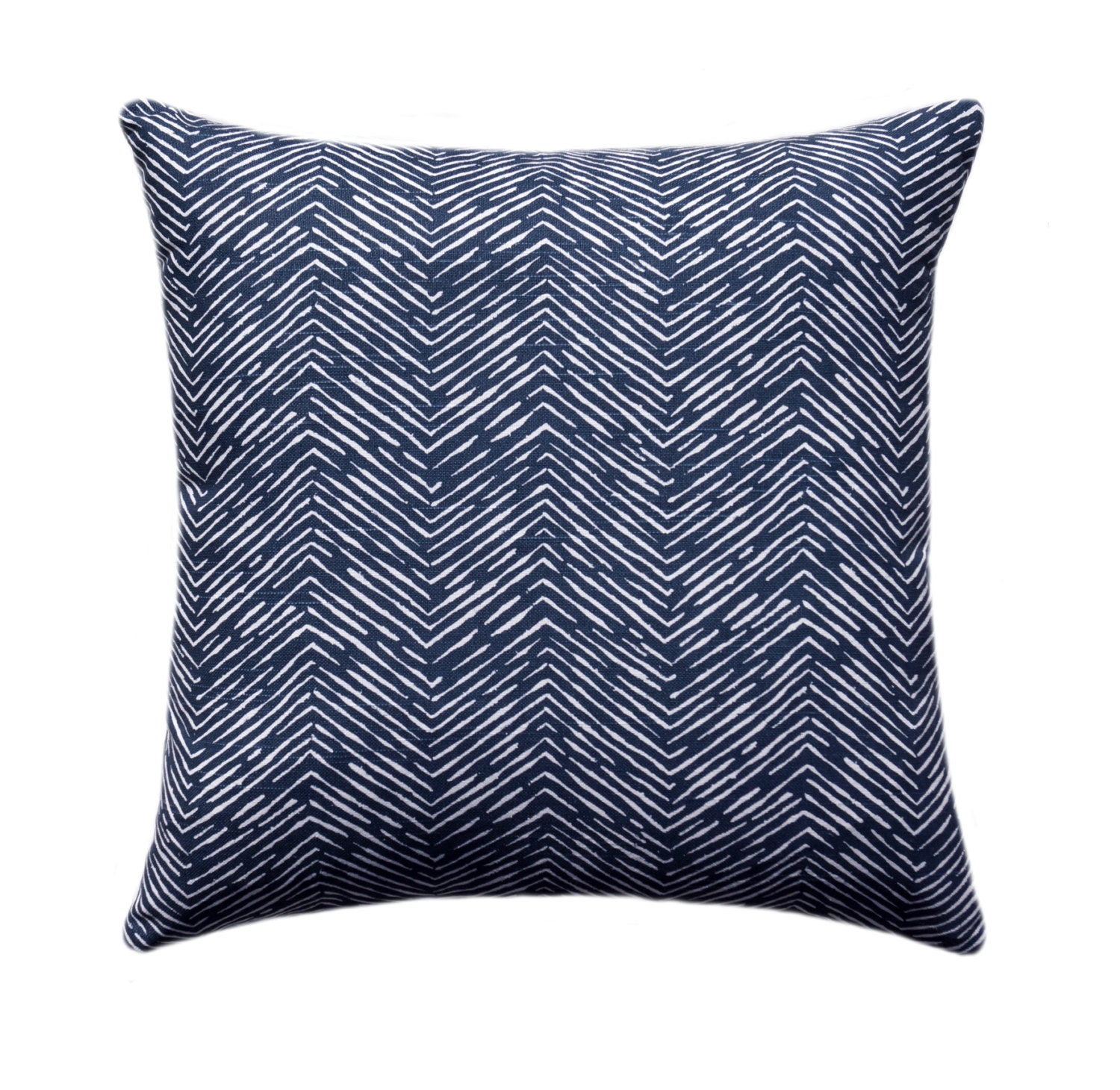 Navy Blue Herringbone Decorative Pillow Cover Navy Throw