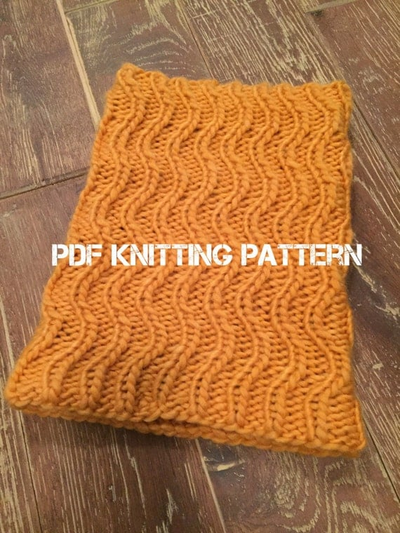 Knitting Cowls In The Round : Gypsy cowl pdf knitting pattern instant download knit in