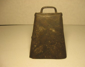 """Vintage Metal Cow Bell  Over 5"""" Tall"""