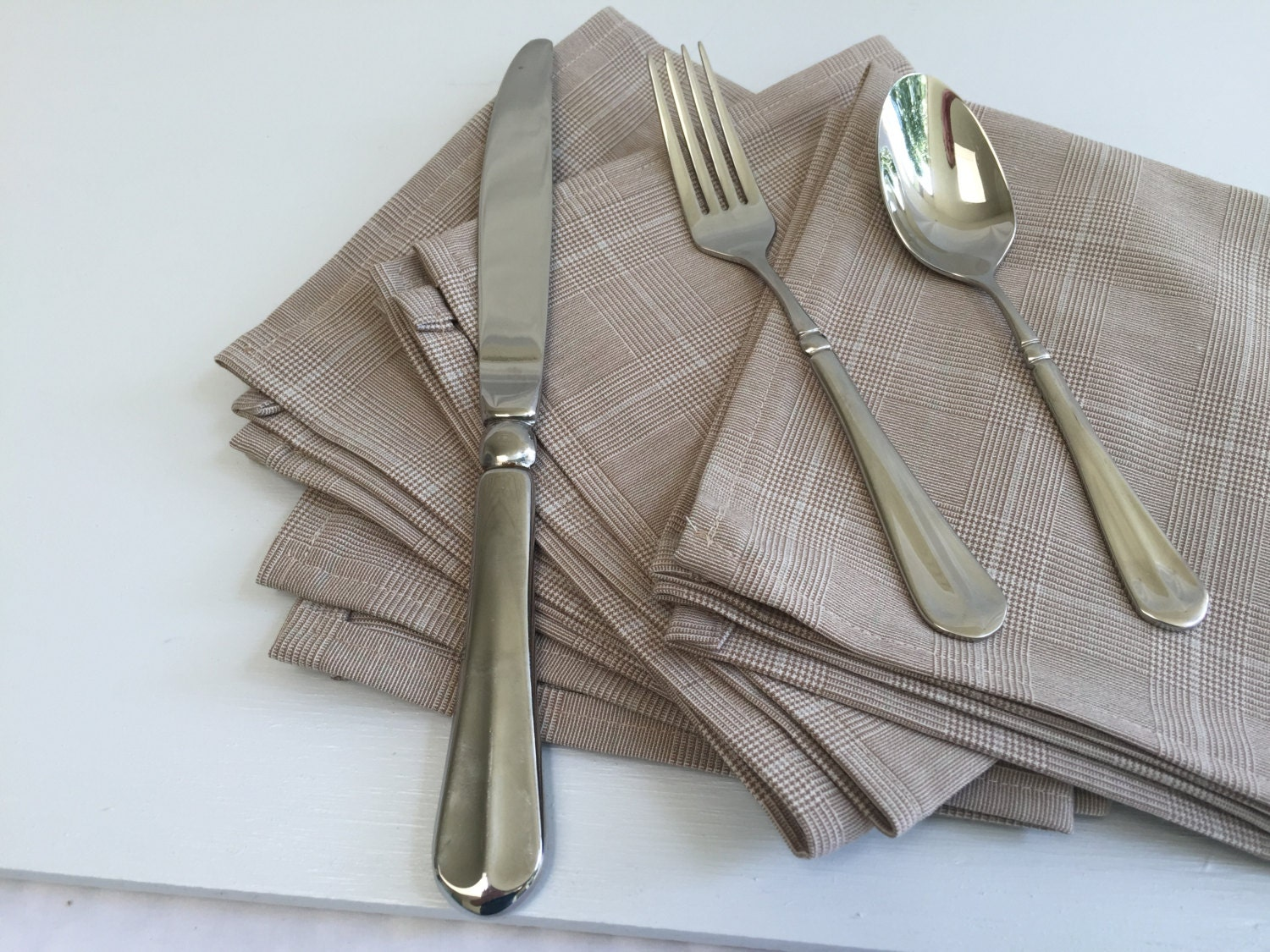 linen napkins cloth napkins table linens striped napkins reusable napkins brown napkins fabric napkins table napkins dinner napkins