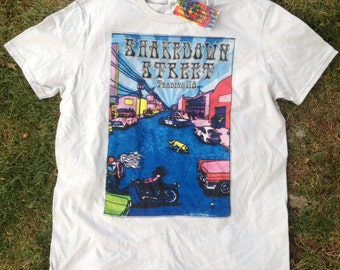 SALE! Shakedown Street Trading Co. T-shirt screen print Grateful Dead Phish Jerry Garcia
