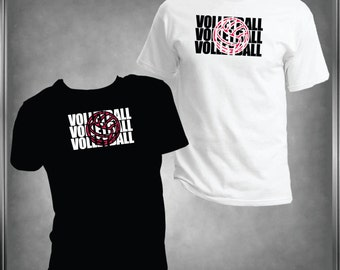 Volleyball Spirit Wear T -Shirt Ladies or Men's, All Adult Sizes XS to 6XL (Color Choices)***