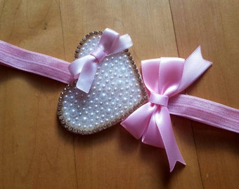 Pearl Heart Headband