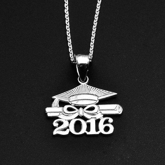 2016 class graduation sterling silver pendant necklace. Black Bedroom Furniture Sets. Home Design Ideas