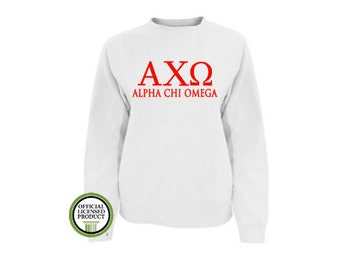 Alpha Chi Omega Comfort Colors Sweatshirt, Greek pullover, Greek gift, Sorority gift, Big and Little, Alpha Chi Omega, Alpha Chi
