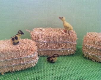 Miniature Ducklings, Dollhouse Ducklings,  Handmade Ducklings,  Clay Ducklings, Mini Ducklings, Miniature Animals , 1 12 scale ducklings