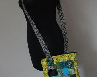 Handmade Patchwork bag with zip fastening