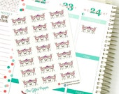 PRINTED Lunch date stickers, Lunch appointment, eat out stickers. For Erin Condren Planner. Stickers, calendar stickers (Item #039)