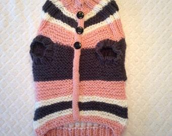 Medium Detailed & Stylish Hand Knit Dog Sweater
