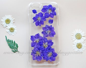 iPhone 7 Case, Flower iPhone 7 Case, Pressed Flower iPhone 7 Plus Case, Floral iPhone 5 Case, Clear iPhone 6 Case, iPhone 5s Case, Phone