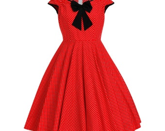 Mickey Minnie Mouse Dress Disney Dress Summer Dress Polka Dot Dress Birthday Dress Red Dress Pin Up Dress 50s Party Dress Plus Size Dress