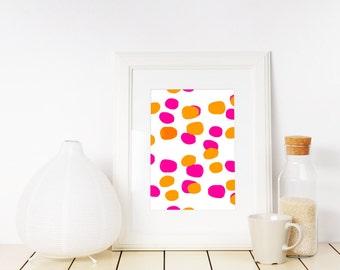 Colorful Polka Dot Pattern Printable