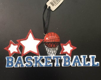Basketball Word Personalized Christmas Ornament