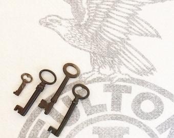 Antique Skeleton Keys Authentic, Not Reproduction Set of 4