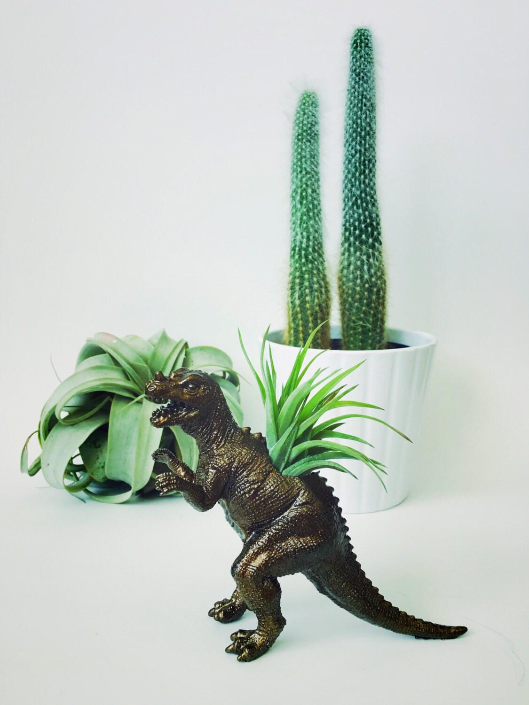 Small Bronze Ceratosaurus Dinosaur Planter Air Plant Dinosaur