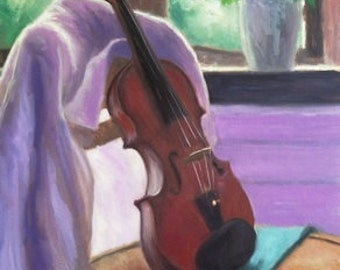 Violin on chair (A3 print)