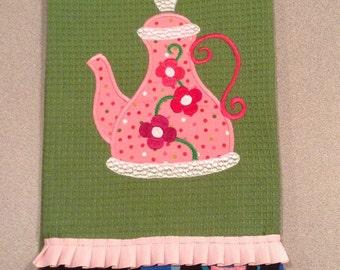 Whimsical Teapot Dishtowel