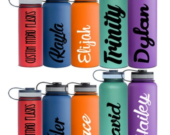 Name Decals Personalized for Hydro Flask and by ...