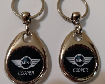 MINI COOPER KEYCHAIN  2 pack