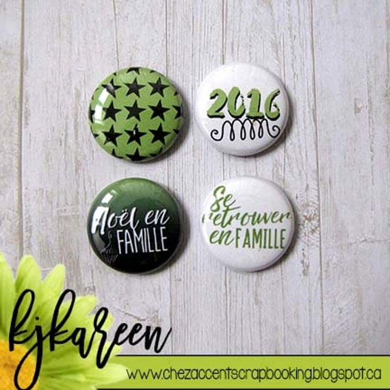 """Badge 1"""" - Noël en Famille"""