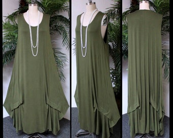 New ComfyPlus Quirky and Designer, Walkabout Knit, Lagen look Plus size Maxi Dress. 3xl/4xl