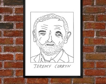 Badly Drawn Jeremy Corbyn - Politics Poster