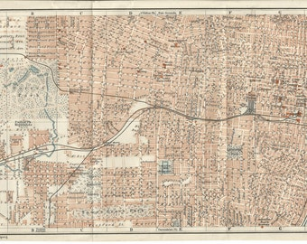 1909 map of st louis U S A antique map  vintage wall decor.