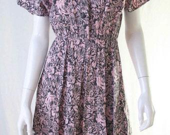 60s floral print dress