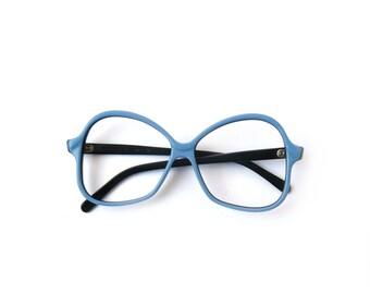 Vintage blue reading glasses, spectacle frames, hipster glasses, sun glasses, black frame plastic, black eyewear, blue eyeglasses