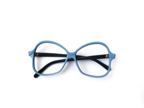Hipster Black Frame Reading Glasses : Vintage blue reading glasses spectacle frames hipster