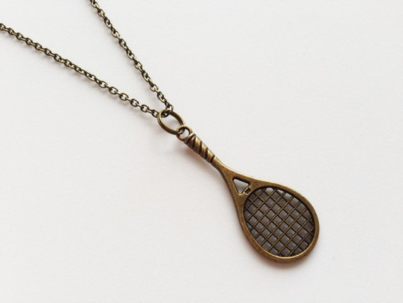 tennis racket necklace racket pendant charm by zhuaccessories