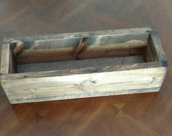 Rustic Wood Planter Box Home Decor Wood Box Decor Organizer