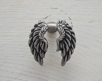 Angel Wings Drawer Knobs Handle , Metal Drawer Pulls, Metal Cabinet Knobs, Dresser Knobs, Angel Decor, Guardian Angel, Angel Wings