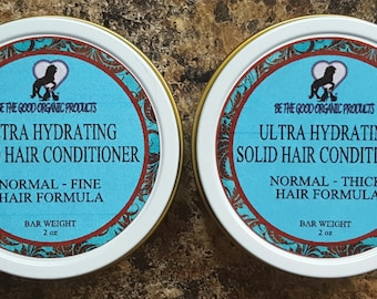 Ultra Hydrating Solid Hair Conditioner -- Two Special Formulas- Normal-Thick Hair & Normal-Fine Hair