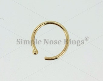 how to put in a nose hoop with ball