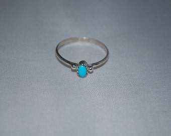 Sterling silver ring size 7.75 with turquoise setting.