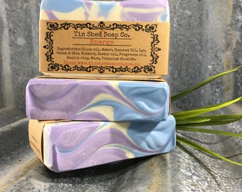 Energy Handmade Soap with Shea and Cocoa Butters. Made in Australia.