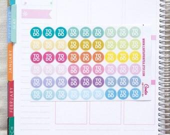 54 repositionable to do stickers, checklist stickers, planner stickers, to do list reminder, eclp filofax happy planner kikkik