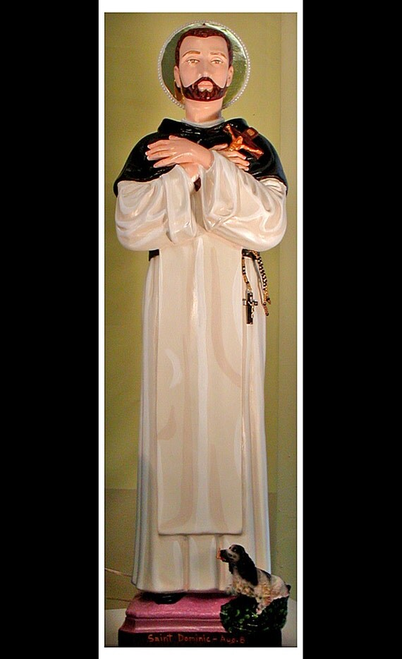 "St. Dominic 26"" Catholic Christian Dominican Saints Plaster Religious Statue"