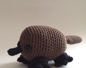 Crochet Amigurumi Platypus, Stuffed Animal, Toy, Plush