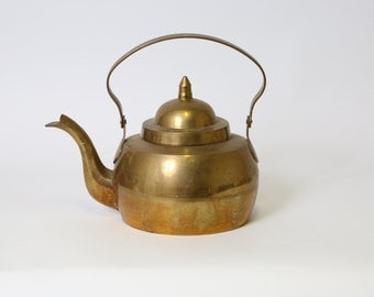 Solid Brass Tea Kettle