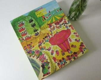 Vintage Children's Puzzle with a Fair or Carnaval by Jumbo Holland 60s