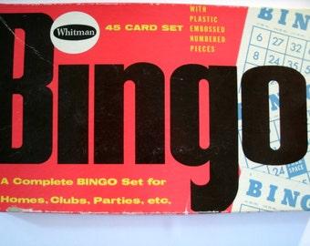 Whitman Bingo, No 4709, Vintage 1950s Bingo Cards, 1959