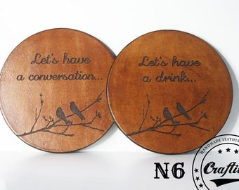 Housewarming Gift Ideas,New Home Housewarming Gift,House warming gift home decor,Leather Anniversary Present,Personalized Leather Coasters