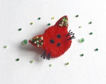 Felt Kitty Cat Brooch/ Kitty Cat Felt Brooch/ Kitty Cat Pin